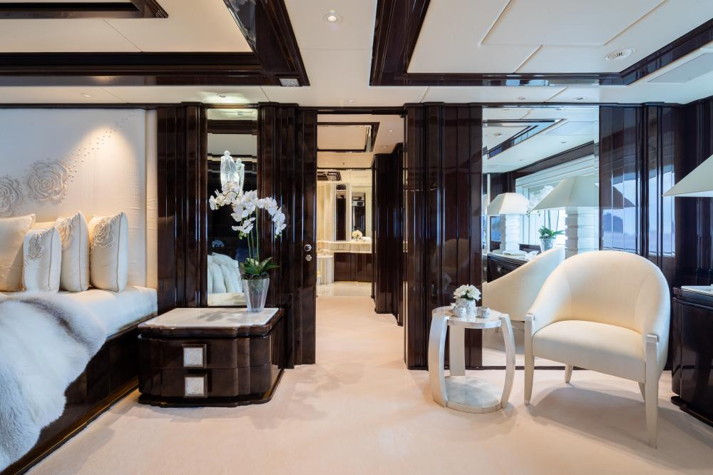 ILLUSION V - Luxury Motor Yacht For Charter - 1 MASTER CABIN  - Img 3   C&N