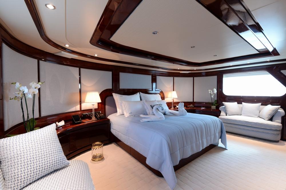 SHAF - Luxury Motor Yacht For Sale - MASTER CABIN - Img 1   C&N