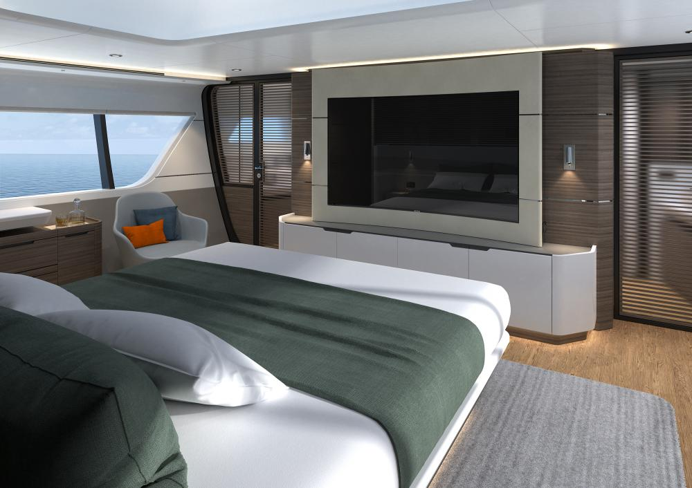 CLX96 - Luxury Motor Yacht For Sale - Master Cabin - Img 2 | C&N