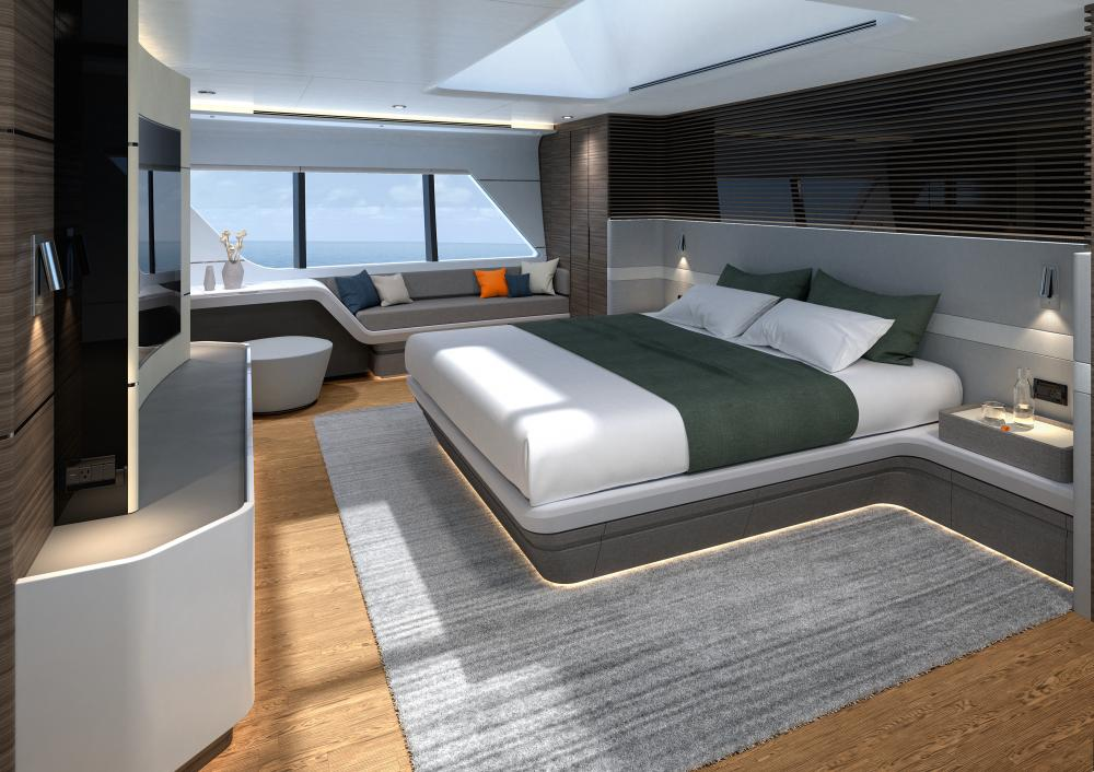 CLX96 - Luxury Motor Yacht For Sale - Master Cabin - Img 1 | C&N