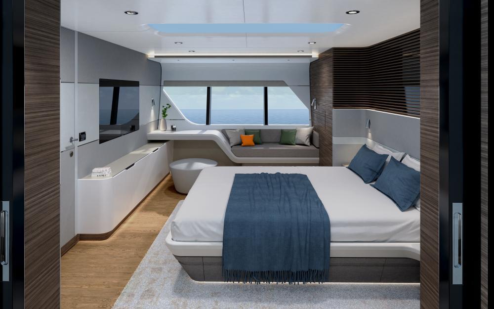 CLX96 - Luxury Motor Yacht For Sale - VIP Cabin - Img 2 | C&N