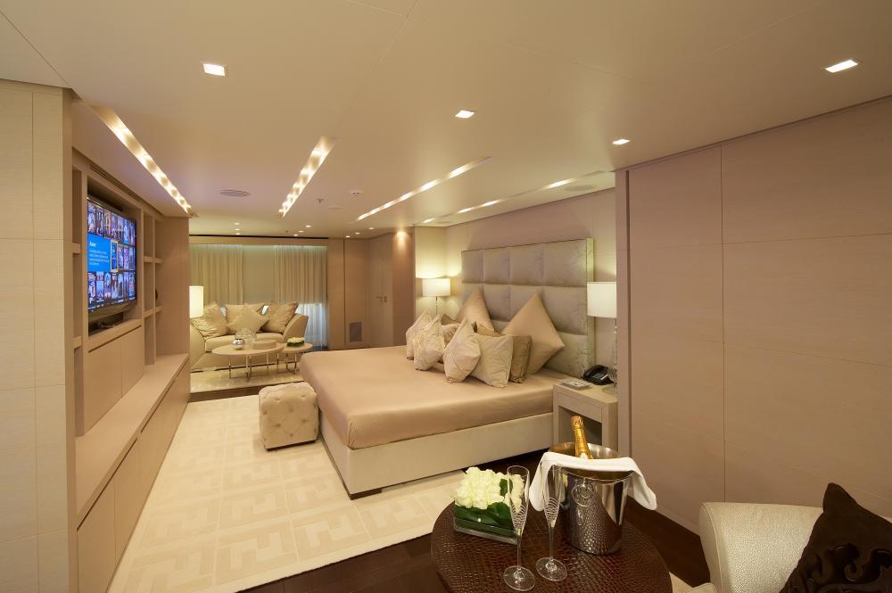 BURKUT - Luxury Motor Yacht For Charter - Master Cabin - Img 2   C&N