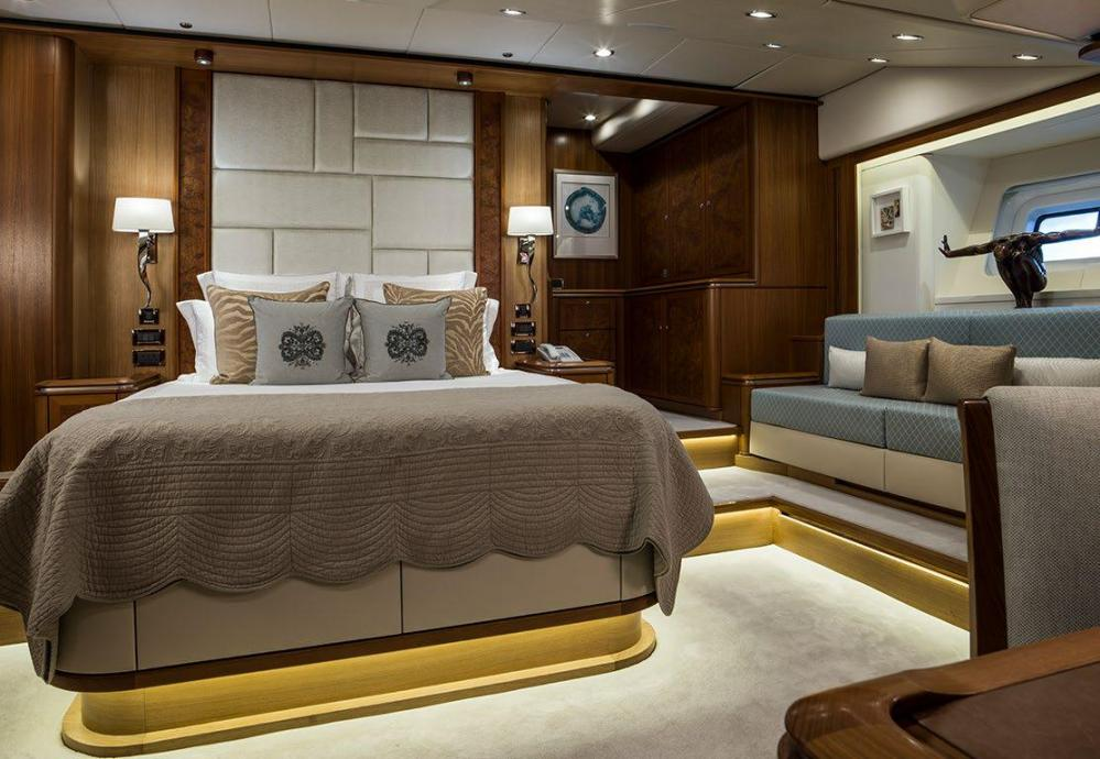 TWILIGHT - Luxury Sailing Yacht For Charter - 1 MASTER CABIN - Img 1   C&N