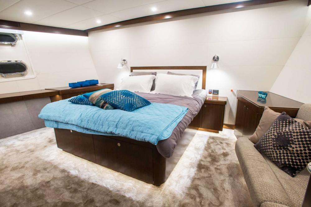 MONARA - Luxury Motor Yacht For Charter - 1 MASTER CABIN - Img 1   C&N
