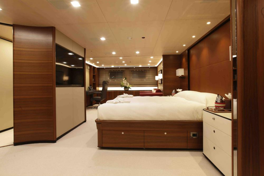PERSEUS3 - Luxury Sailing Yacht For Charter - Master Cabin - Img 1   C&N