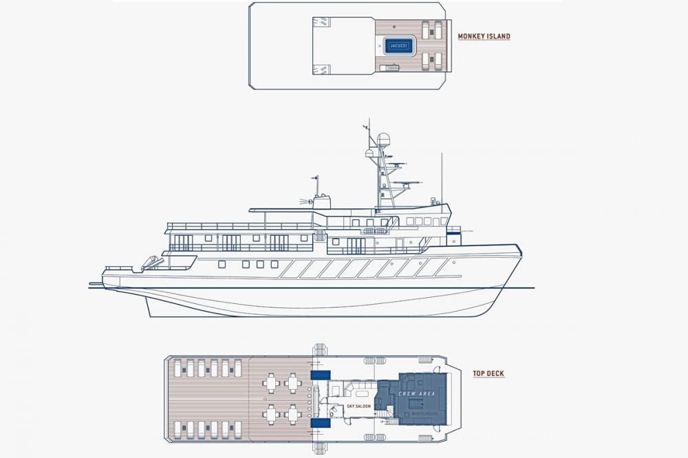 KUDANIL EXPLORER - Luxury Motor Yacht For Charter - Layout - Img 1 | C&N
