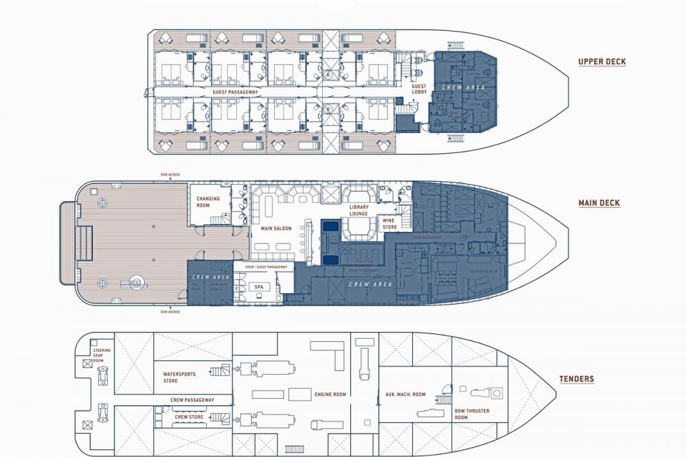 KUDANIL EXPLORER - Luxury Motor Yacht For Charter - Layout - Img 2 | C&N