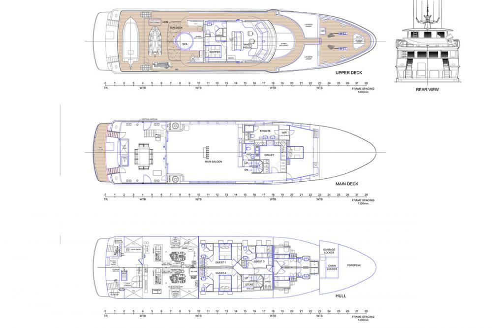 SAHANA - Luxury Motor Yacht For Charter - Layout - Img 1 | C&N