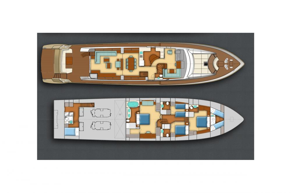 HUMMINGBIRD - Luxury Motor Yacht For Charter - Layout - Img 2 | C&N