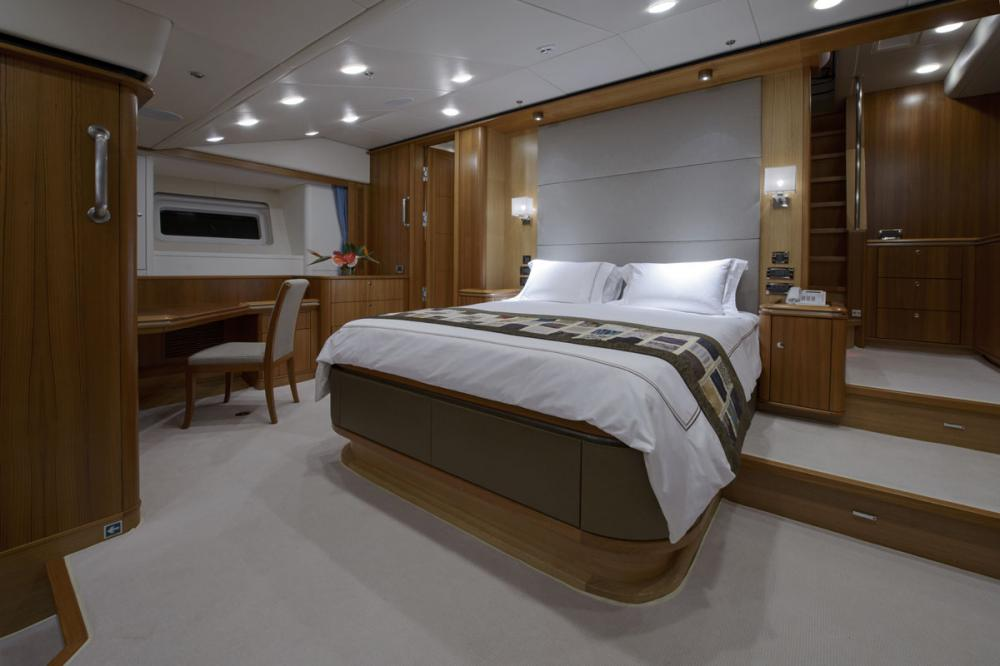TWILIGHT - Luxury Sailing Yacht For Charter - 1 MASTER CABIN - Img 1 | C&N