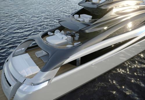 INFINITY 59 - Luxury Motor Yacht For Sale - Exterior Design - Img 3 | C&N