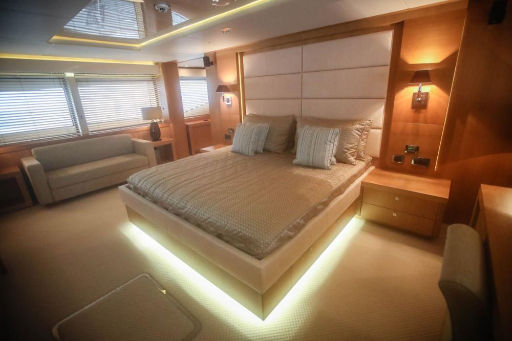 Manhattan Express II - Luxury Motor Yacht For Sale - 1 MASTER CABIN - Img 3 | C&N