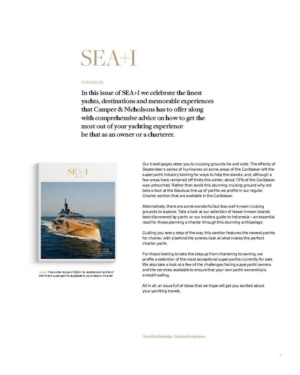 ISSUE 37 - SEA+I - Page 3 | C&N