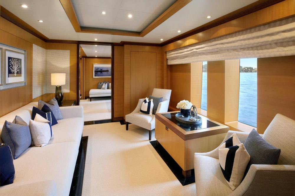ANDREAS L - Luxury Motor Yacht For Charter - Full-beam Owner's suite with king-size bed, dressing room, separate study, his and hers bathrooms en suite - Img 2 | C&N