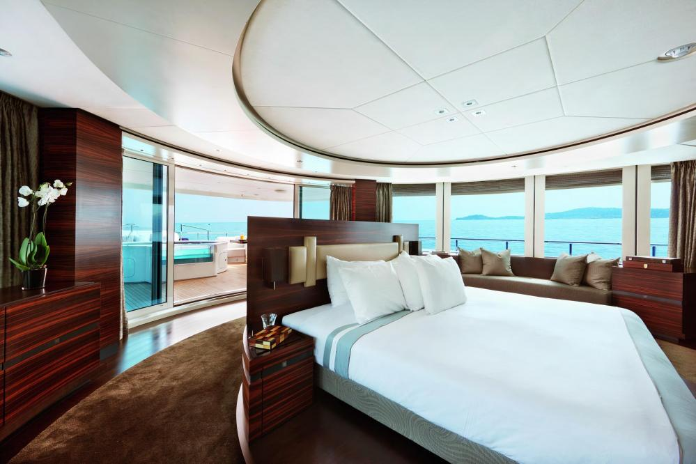 INCEPTION - Luxury Motor Yacht For Charter - Owner's Suite - Img 2 | C&N