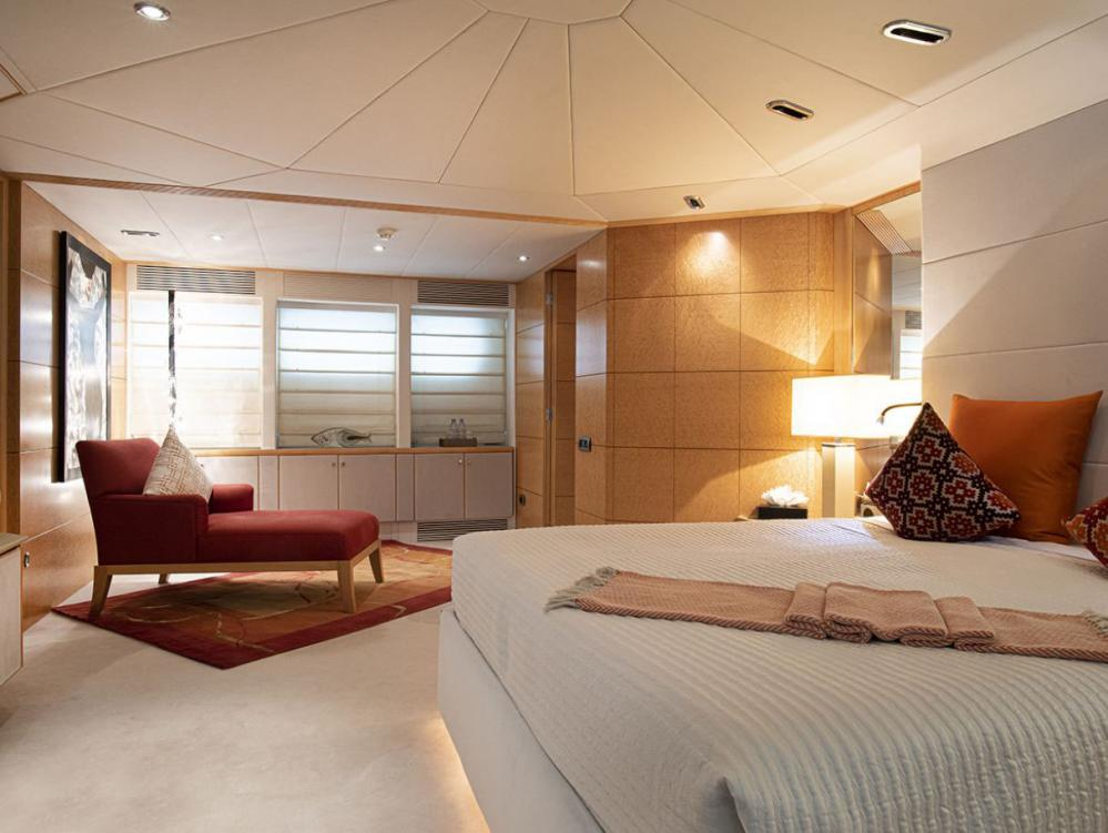 DEEP BLUE II - Luxury Motor Yacht For Charter - Master suite located on the main deck  - Img 2 | C&N