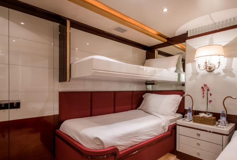 DIANE - Luxury Motor Yacht For Charter - 2 x Twin cabins on the lower deck with en suite bathrooms (one with additional Pullman berth) - Img 2 | C&N