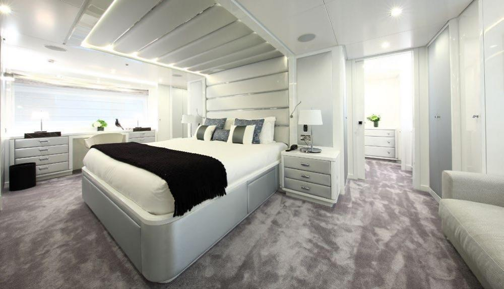 SUD - Luxury Motor Yacht For Charter - Full beam owner's cabin on the main deck - Img 1 | C&N