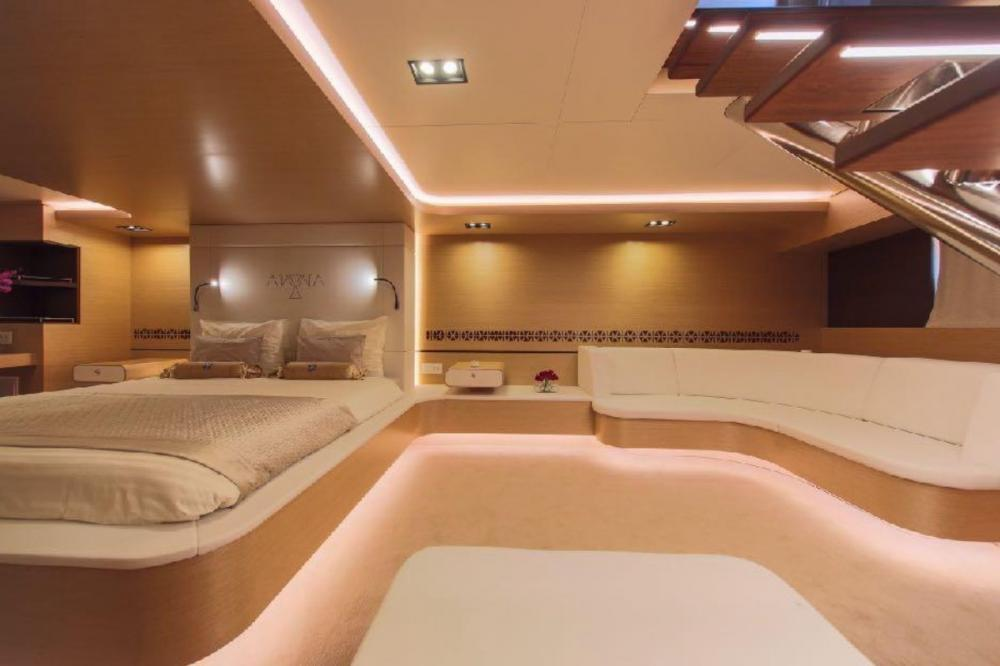 AIAXAIA - Luxury Sailing Yacht For Charter - Master cabin - Img 5 | C&N