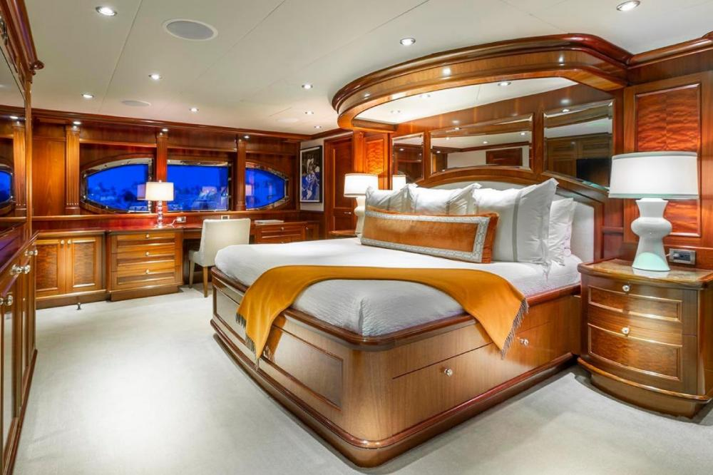 FAR FROM IT - Luxury Motor Yacht For Charter - Full beam Master Stateroom - Img 1 | C&N
