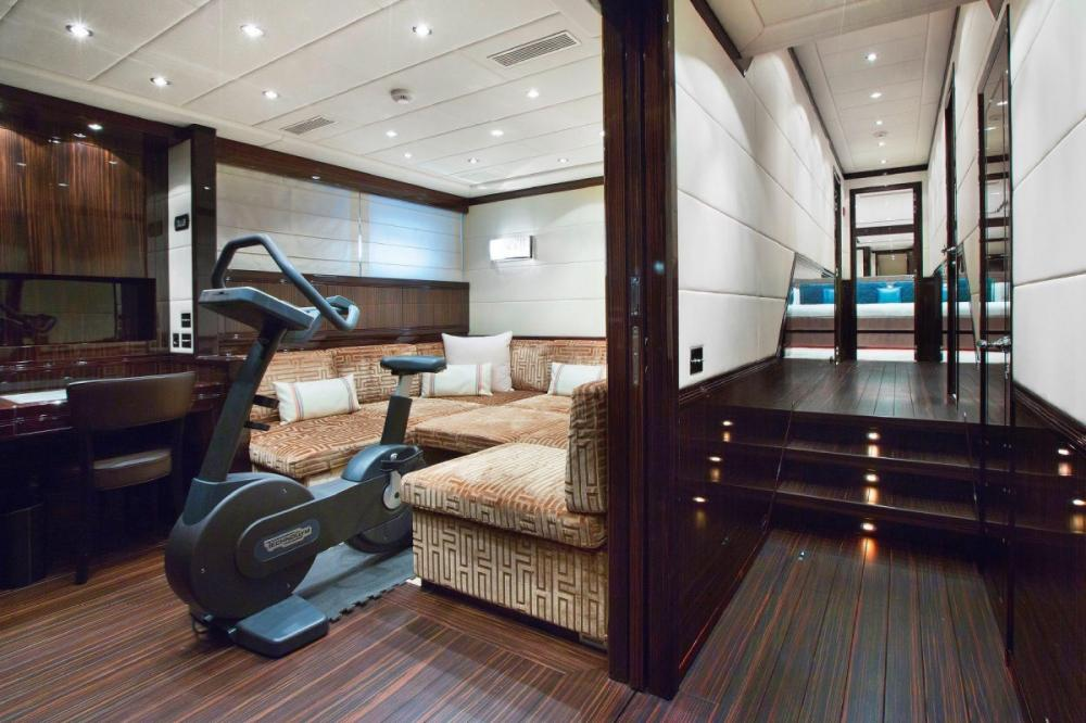 MAC TOO - Luxury Motor Yacht For Charter - Lower TV saloon is also convertible into a Double Bed - Img 1 | C&N