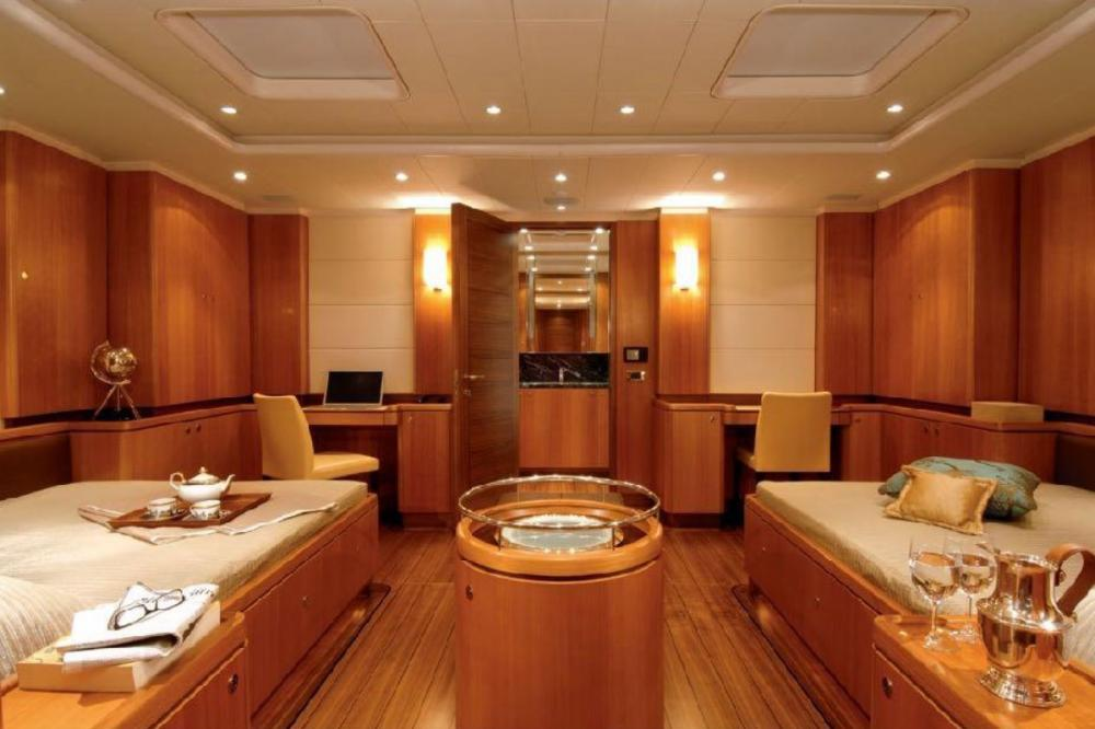 ARISTARCHOS - Luxury Sailing Yacht For Charter - Master suite with 2 king double beds - Img 2 | C&N