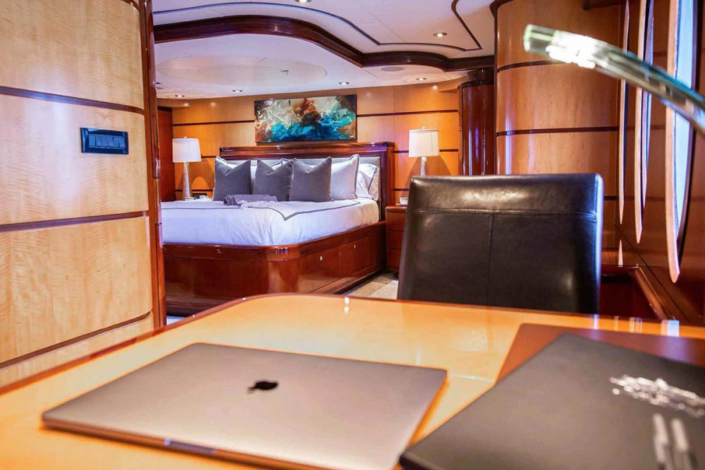 JUST ENOUGH - Luxury Motor Yacht For Charter - Master Suite - Img 3 | C&N