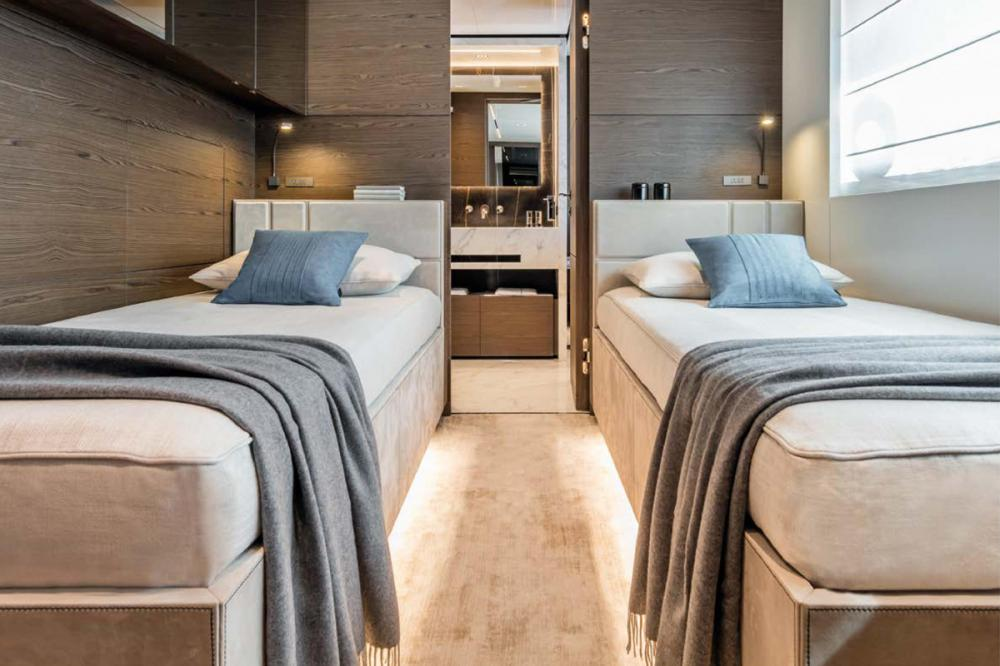 NAVETTA 42 #7 - Luxury Motor Yacht For Sale - Cabins on lower deck can be laid out as 4 VIP or 5 regular suites. - Img 1 | C&N