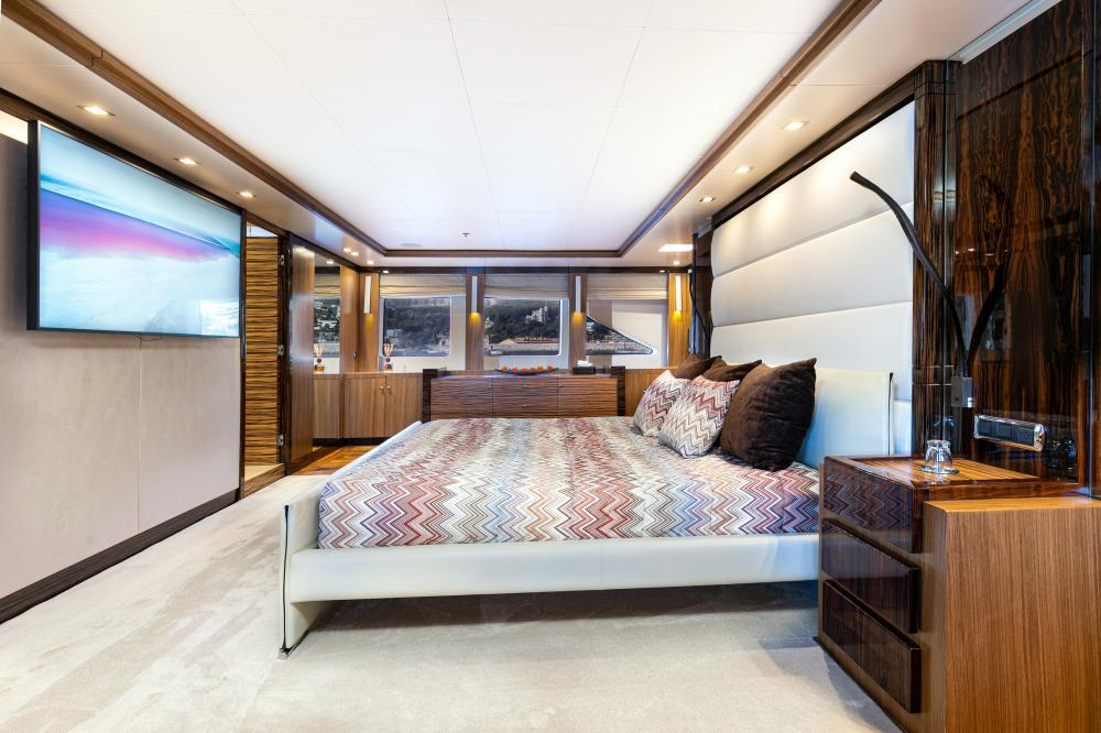PANAKEIA - Luxury Motor Yacht For Charter - 1 MASTER CABIN - Img 3 | C&N