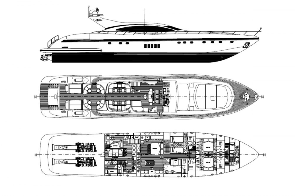 KING - Luxury Motor Yacht For Sale - Layout 1 - Img 1 | C&N