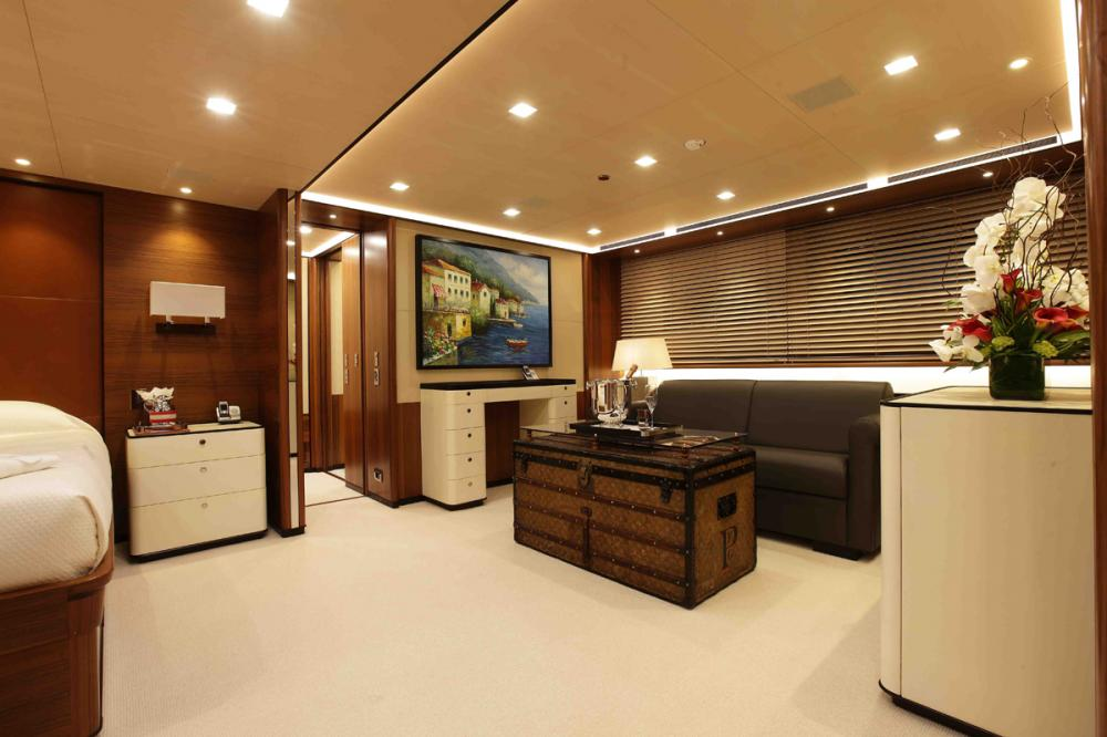 PERSEUS3 - Luxury Sailing Yacht For Charter - 1 MASTER CABIN - Img 2 | C&N
